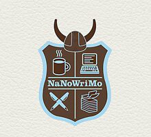 NaNoWriMo Badge - Brown by RogueWeasley