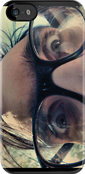 Hipster Man iphone case by Carol Knudsen