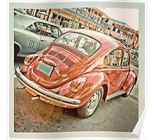 V Dub red bug Poster