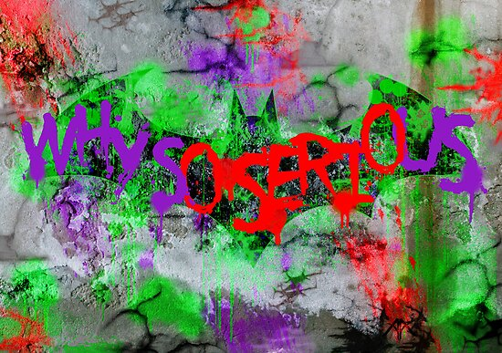 Batarang Joker graffitied by Adam Angold