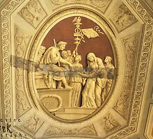 Ceiling in the Vatican Hallways that is being repaired by katyork17