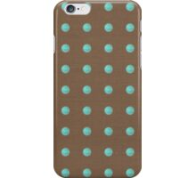 Handmade Brown and blue polka dots iphone case iPhone Case/Skin