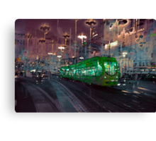 The Essence of Croatia - Zagreb Night Tram Canvas Print