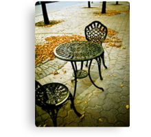 Cafe Patio for two 01 Canvas Print