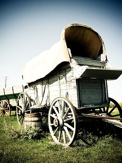 Old West Covered Wagon 01 by mdkgraphics
