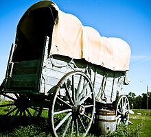 Old West Covered Wagon 03 by mdkgraphics