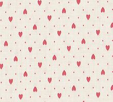 Pink Hearts iPhone 4 Case by purplesensation