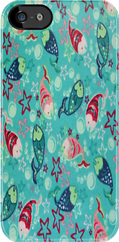 Fun Fish iPhone 4 &amp; 4s Case by purplesensation