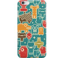 Robots on blue. iPhone Case/Skin