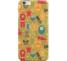 Robots on green. iPhone Case/Skin