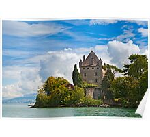 The 700 year old castle of Yvoire by the lake Geneva Poster