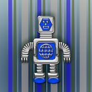 Little Blue Robot iPhone Case for Kids by Cherie Balowski