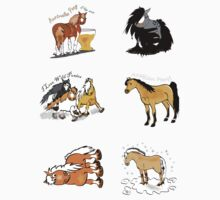 Horses mini stickers by Diana-Lee Saville