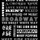 BROADWAY POSTER by greenstonetype