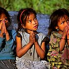 Nepali girls, Annapurna region. by Kevin McGennan