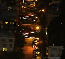 Lombard Street at Night by fototaker