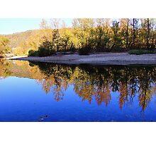 Cobalt Sky, Autumn Reflections Buffalo National River Photographic Print