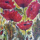 Poppies - 3 by Angela Gannicott