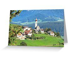 Mittelberg (Monte Di Mezzo) Greeting Card