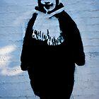 Scarf Man Graffiti by David Baird