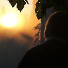 Dad Backlit on Porch by Barnewitz
