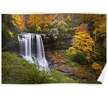 Autumn at Dry Falls - Highlands NC Waterfalls Poster