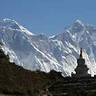 Everest, Lhotse and Ama Dablam by Jan Vinclair
