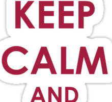 Keep Calm and Click Your Heels tshirt Sticker