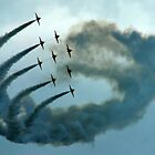 The Red Arrows stirring up a storm by Scott Read