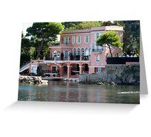 David Niven Villa On Cap Ferrat Greeting Card