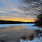 January sunset - Johnson's Pond, Boxford, MA by Susana Weber
