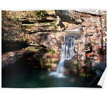 Upper Falls, Old Man's Cave - Hocking Hills State Park Poster