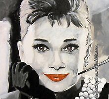 Audrey in Breakfast at Tiffanys (IPhone Case) by Antonio  Luppino
