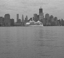 Regent Cruise Ship Seven Seas Navagator On The Hudson River by pmarella