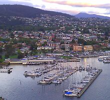 Sandy Bay Marina - Hobart, Tasmania by Nigel Butfield