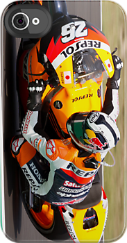 Dani Pedrosa in Mugello iPhone case by corsefoto