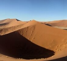 Dune 45 at sunrise Sossusvlei by cellilloyd