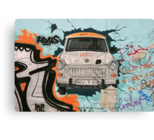 Fragment of Berlin wall Canvas Print