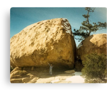 Holding Up A Boulder Canvas Print