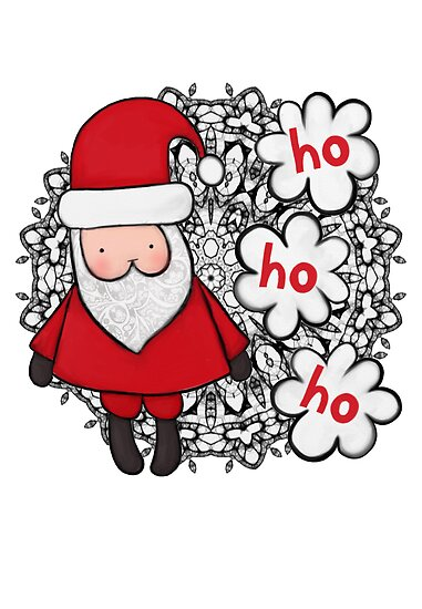 Father Christmas and his Christmas Doily by stamptout