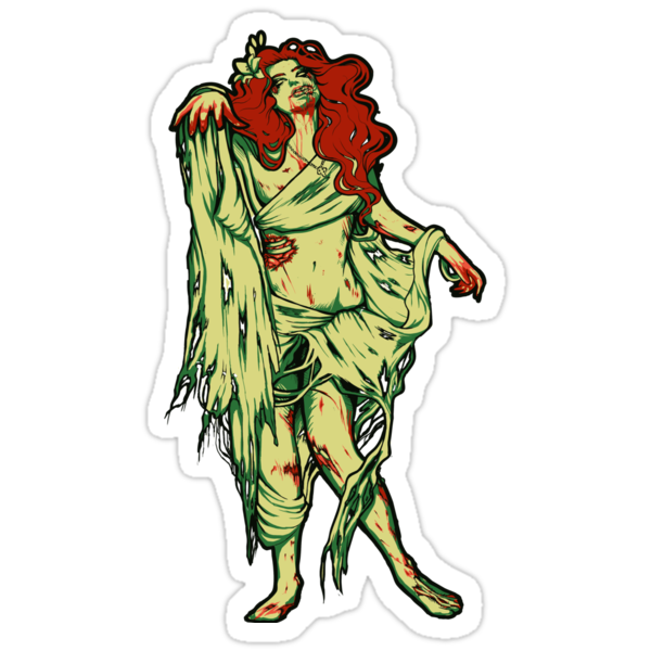 Zombie Girl - STICKER by MeganLara