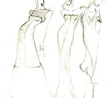 Fashion Sketch Female 8 by AnArtfulLife