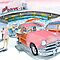 Mel&#x27;s Diner - 1950 Ford - in the pink by Rob Beilby