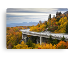 Linn Cove Viaduct - Blue Ridge Parkway Fall Foliage Canvas Print