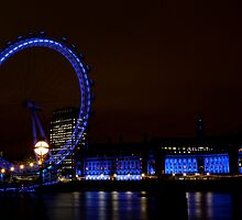 London Eye at Twilight by Heidi Hermes