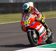 Valentino Rossi in Mugello 2011 by corsefoto