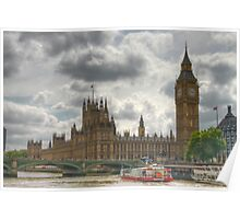 Clouds over Westminster Poster