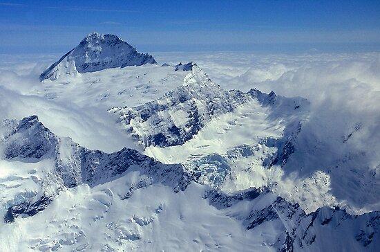 Above Mount Aspiring by Alex Cassels