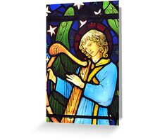 William Morris Stained Glass Greetings Card Greeting Card