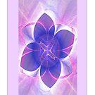 Purple Lotus Fractal (iPhone Case) by judygal